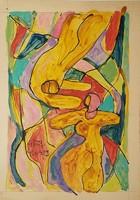 Németh Miklós - 31 x 21 cm akvarell, papír