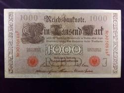Német 1000 Márka 1910 piros bélyegzéssel / id 3382/