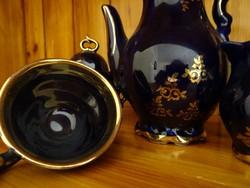 Kisméretű királykék porcelán kávéscsésze szett