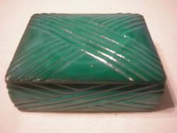 N24 Antik üveg ékszertartó tároló 11 x 9 x 4.6 cm-es hibátlanúl eladó