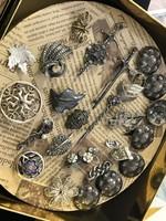 Antik ezüst Bross gyűjtemény kitűzők mindenkinek jut belőle :)