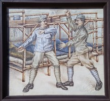 Csányi G. szignó - Casino 1918 akvarell, papír 21 x 23 cm, keretezve