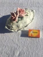 Meseszép Régi rózsás ENS porcelán bonbonier - tartó - doboz