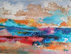KÜLÖNLEGES Festmény EGYEDI AJÁNLAT!Csodaszép ajándék,Eredeti modern alkotás,Közvetlen a művésztől!