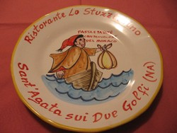 Ristorante Del Buon Ricordo művészi ,gyűjtői tányér sorozatból 2016