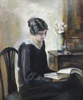 Carl Wilhelm Holsoe: Hölgy feketében (Lady in black)
