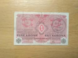 """1 korona 1916 """"CITTÁ DI FIUME"""""""