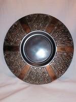 Bronz falitál retro iparművész fémműves termék