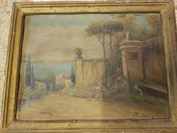 Talán Pintér László (1881-1928) festménye, öregnek öreg...