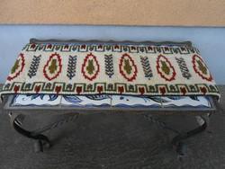 Antik gobelin asztali futó terítő fali szőnyeg 110*25 cm