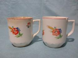 2 db Kispesti Gránit pipacsos bögre, csésze
