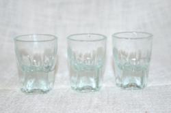 3 db vastag falú likőrös pohár  ( DBZ 0068 )