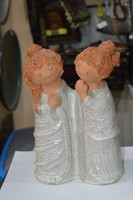 Nagy méretű páros kerámia figura
