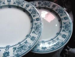 2 db csodaszép antik tányér  Villeroy & Boch - Etelka (ifj.Grünwald Mór)