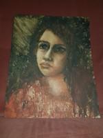 Hannah Messinger akvarellje, 29x36 cm, eredeti keretével