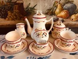 Francia szecessziós teás készlet