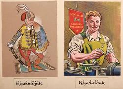 Endrődi István (1920-1988)  KÉPVISELŐJÜK - KÉPVISELŐNK  Technika: vegyes technika, papír Méret: 25 x
