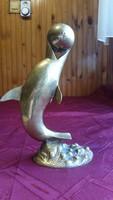 Réz, labdázó delfin szobor eladó!Delfin szobor eladó!
