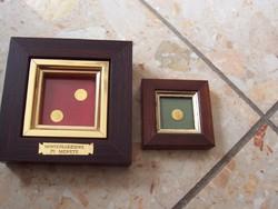 Mini érmék keretben