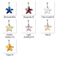 Swarovski kristály medál -16mm-es tengeri csillag több színben