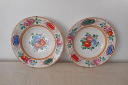 Hollóházi virágmintás népi tányérok eladók