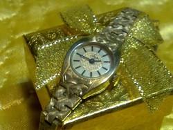Nagyon szép arany ozott orosz női ékszeróra, karóra óra jelzett sorszámozott