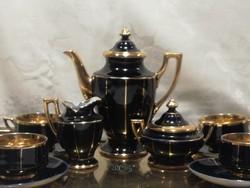 Stadtilmi art deco kobaltkék kávés porcelánkészlet
