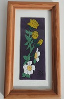 Virágok  - tűzzománc falikép