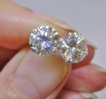 Szép valódi 3ct Moissanite gyémánt ezüst fülbevaló