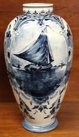 Antik Delft fajansz váza