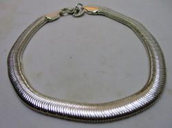Csodaszép széles,csillogó ezüst kígyólánc karkötő