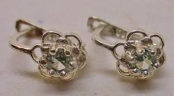 Szép valódi 0.28ct Moissanite gyémánt francia kapcsos ezüst fülbevaló