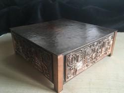 MÁTÉ JÁNOS/1938-2014/ötvösművész bronz doboz