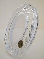 Ovális asztali kristályüveg, ólomkritály képkeret