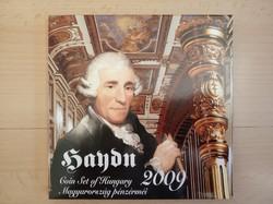2009-es Haydn forgalmi sor díszcsomagolt ezüst érmével MNB kibocsátás