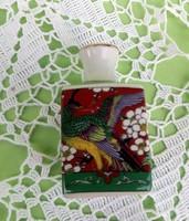 Régi, Japán kézzel festett pici ibolyaváza