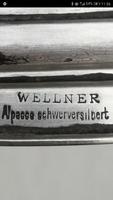 4 ágú gyertyatartó ezüstözött Wellner alpakka , ezüst hatàsú különleges darab.