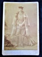 Eredeti CVD fotó RUDOLF KORONA HERCEG HABSBURG trónörökös KUK 1888 KEMÉNYHÁTÚ FOTÓ FOTÓGRÁFIA