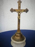Réz feszület ,Kereszt,jézus.antik, gyönyörű különleges Máriazell, màrvànyon