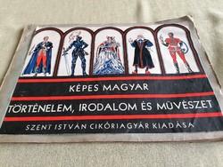 Képes Magyar Irodalom,Történelem,Művészet -Szent István Cikóriagyár kiadása TELJES!!!!!!!