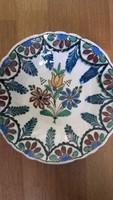 HMV régi virágos tányér