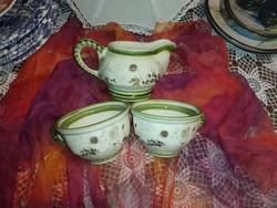 Zeller kerámia 2 kávés csésze kiöntővel.