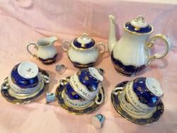 Zsolnay porcelán teás készlet pompadour 1.