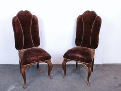0C743 Antik körmös támlás szék párban