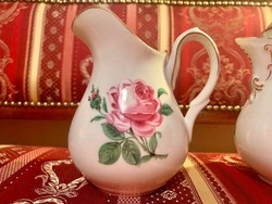 RITKASÁG! Antik Hüttl rózsás kiöntő csodaszép darab!