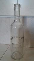 Régi üveg J. Zwack & Co Budapest Hungary palack 24 cm