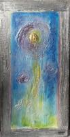 Arannyal,ezüsttel, fényre változó színekkel 5 kép. 40x20 cm. Károlyfi Zsófia Prima díjas alkotótól.