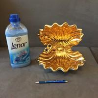 Nagymeretu shell kagylo formaju Capodimonte  porcelán kínáló