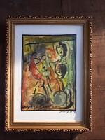 Számomra ismeretlen akvarellkép eladó.