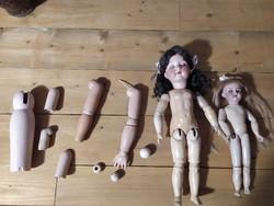 Rendelhető antik baba alkatrészek porcelanbaba  lábszár